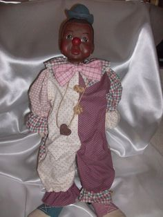 """Sarah's Attic Collectible """" WILLIE CLOWN DOLL"""" African American Figurine 