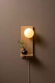 A study in usage, Focal expands the original plug lamp collection. Removing unsightly wires, plug lamp was designed to Diy Luminaire, Diy Wand, Wall Decor, Room Decor, Small Shelves, Wooden Lamp, Light Architecture, Decoration, Sconces