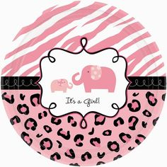 Pink Elephant Safari ThemeSure to be one of our most popular baby shower patterns, the Sweet Safari Girl baby shower theme combines classic zebra and leopard prints in colors of pink, black and white together to create a really wild baby shower pattern! Adorable momma giraffes and elephants with their babies grace the Sweet Safari design.The Sweet Safari Girl collection includes not only basic baby shower supplies, like plates, cups, and napkins, but also fun decorating accessories like…