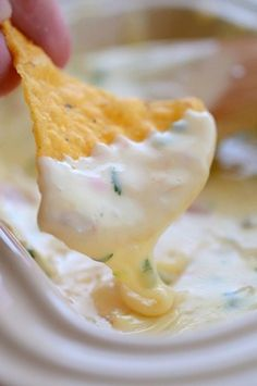 White Queso Dip Recipe from Authentic Mexican Kitchen