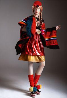 awesome Children of Peru | Editorial de Moda Abril 2013 | Klaudyna por Maciej Bernas