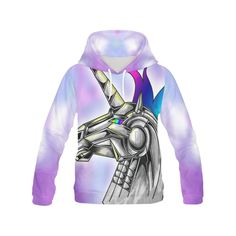 Awesome Robot Unicorn Hoodie - Do You Dare?