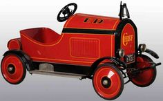 Gendron Wheel Company Tin-pedal cars Fire chief pedal car of pressed