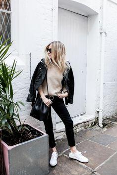 Skinny Jeans + Leather Jacket