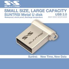Suntrsi Usb Flash Drive Mini Pen drive 64GB 16GB 8GB USB 2.0 Flash Drive Pendrive New Usb Stick Custom USB Flash mini gift