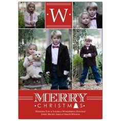 Classic Monogram Christmas Photo Cards