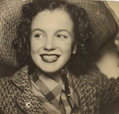 Photo booth self-portrait of Norma Jeane Baker, soon-to-be Hollywood icon Marilyn Monroe, circa 1940