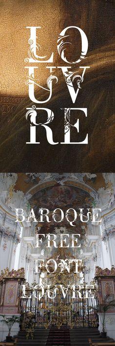 pinterest.com/fra411 #type - Louvre - Free Font
