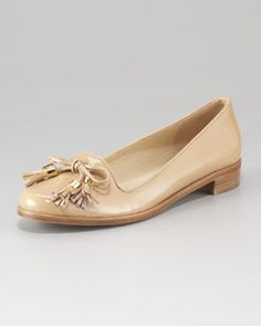kate spade new york cassy patent leather tassel loafer