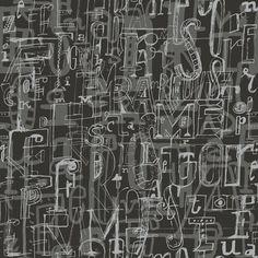 """9 Selvas De Mariscal Lletres 33' x 21"""" Wallpaper"""