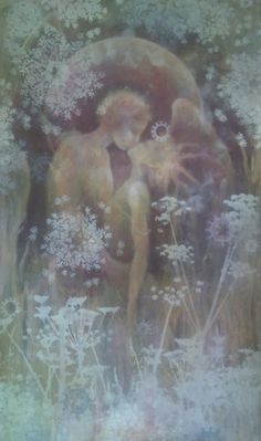 """""""Thankfulness brings you to the place where the Beloved lives."""" ~ Rumi ♥ Art ~ Sacred Marriage by Leora Honeyman ..*"""