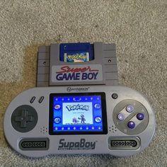 Cuando se quiere se puede. #Snes #GameBoy #SupaBoy #SuperGameBoy #Pokemon #PokemonBlue #Nintendo