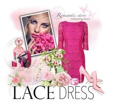 """LACE DRESS"" by marinadusanic ❤ liked on Polyvore featuring Darling, Marc Jacobs, LSA International, Gianvito Rossi, Clinique and lacedress"