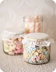 Consol jars as wedding favours