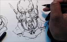 Cyber-Mecha, Concept Sketching Demo pt.1