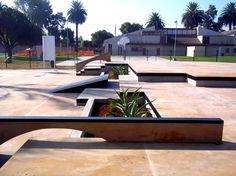 Skate plaza, landscape architecture, street