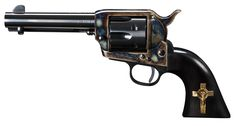 """""""Hand of God"""" Open Range Revolver from Turnbull Manufacturing. Gun is the one used by Russell Crowe (Ben Wade) in the movie """"3:10 to Yuma."""""""