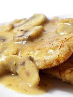 Pan Fried Pork Chops with Mushroom Gravy Recipe... By far one of the best recipes i have tried in a long time.