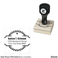 Rally Theme VZS2 Address Stamp