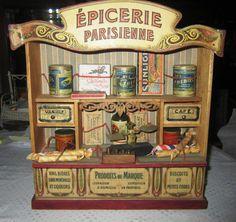 Rare ancienne épicerie parisienne et accessoires jouet de poupée ou dinette