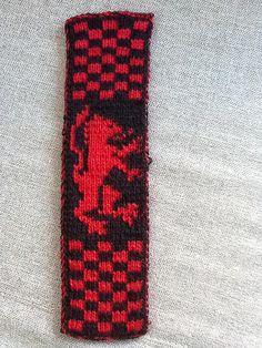Ravelry: manenschijn's Harry Potter bookscarf Probeersel om het dubbel breien onder de knie te krijgen 2013