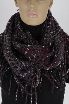 Crochet Infinity Scarf Handmade Scarf Neck warmer Crochet