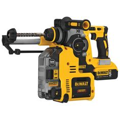 The MAX XR Brushless Rotary Hammer is a high-performance drill that is powered by a DEWALT brushless motor and a durable German engineered mechanism that delivers J of impact energy. Dewalt Power Tools, Garage Atelier, Power To Weight Ratio, Dust Extractor, V Max, Sds Plus, Hammer Drill, Electronic Recycling, Recycling Programs