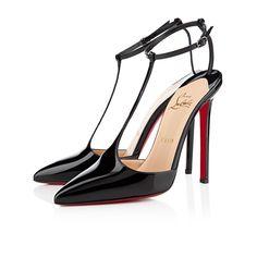 Je veux je veux je veux! T-PIGA VERNIS 120 mm, Cuir vernis, NOIR, souliers pour femme.