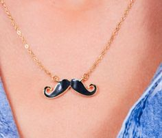 The Fancy Mustache Necklace // the #mustache trend of 2013 is hilarious... You can get anything mustache-themed right now! #designtrend