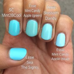 SinfulColors Mint2BCool and comparisons