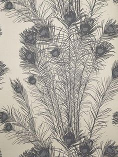 Florence Broadhurst Peacock Feathers wallpaper FBW-RF131  powder room