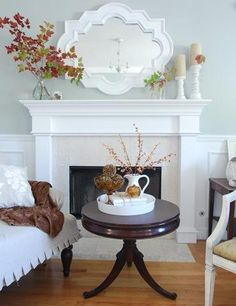 Some great repurposing of household items and free things from the backyard (nature) for some free, vibrant fall decor.