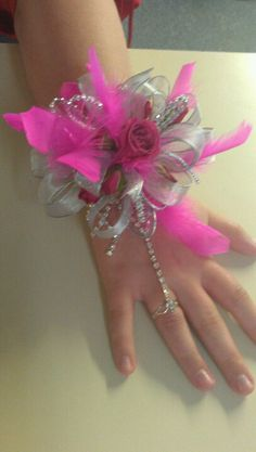 Prom corsage with bracelet