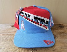 0a9d66c454f HOUSTON OILERS Vintage 90s Snapback Hat Pro Player by Daniel Young Baseball  Cap Official Licensed NfL Wool Blend Rare Deadstock Ballcap