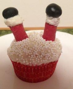 Santa's stuck cupcakes