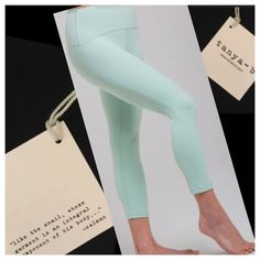 🆕 •Tanya b• Jade Yoga Leggings ▫️Tanya-B is an NYC boutique company. I love supporting smaller local brands instead of always buying from lulu 😊 ▫️DESCRIPTION: These cropped length performance leggings are super comfortable and soft and great to work out in! They're great, I have a pair of my own.  They're perfect for l any type of athletics such as yoga or running.  ▫️MATERIAL: 88% nylon | 12% spandex  ▫️NWT RETAIL Price firm. Still 4 sale on their website for $89 Tanya-b Pants Leggings