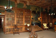 Library of Sir Walter Scott in Abbotsford, Scotland ... I loved it there.