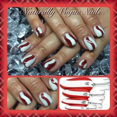 Red Devil fishing lure nails Fish Nails, Devil, Nail Designs, Fishing, Fancy, Red, Hair, Clothes, Beauty