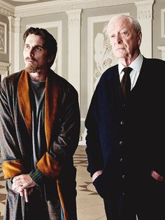 Christian Bale as Bruce Wayne and Batman and Michael Caine as Alfred inside the millionaire's 'Wayne Manor' for the the film Batman Begins in 2005 Batman The Dark Knight, The Dark Knight Trilogy, The Dark Knight Rises, Batman Dark, Christopher Nolan, Christian Bale, Spiderman, Batman And Superman, Gotham City