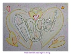 Angel Word Inspirational Meditation Art Painting (Glitter)