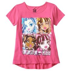 Hybrid Monster High High-Low Tee - Girls 7-16