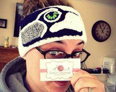Crochet boho headband head wrap ear warmer by threemagicsheep