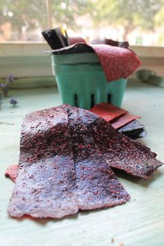 DIY Fruit Leather! A sweet but nutritious alternative to candy.