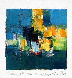 jan152012 | oil on canvas 9 cm x 9 cm hiroshi matsumoto w… | Flickr