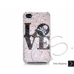 Love Skull Bling Swarovski Crystal iPhone 5 Case