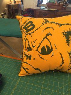 Remember Sailor bear... A longtime mascot for Baylor... Once a shirt, now a pillow