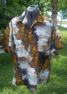 Tiki Shirt  Hawaii Aloha Tropicana in Fabulous Condition #hawaiianshirts #tikishirts #vintagestyle #instagram #etsy