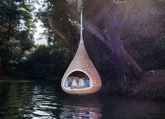 The Mini Nestrest Chair Can Be Hung From a Tree Like a Bird's Nes #hammocks trendhunter.com