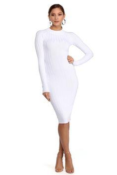 917f993322 White That New New Midi Dress Final Sale