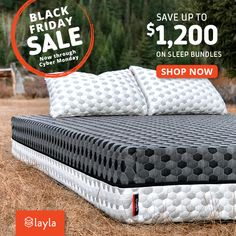 Black Friday Sale – $200 off + $300 of FREE Products – 2 pillows, sheets, protector FREE
